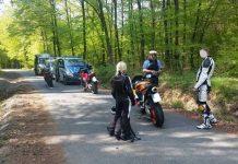 Motorradkontrolle auf der B255 zwischen Gladenbach und Bischoffen