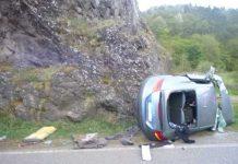 Laut Zeugen raste der Fahrer und unternahm gefährliche Überholmanöver - B41, Bärenbacher Brücke