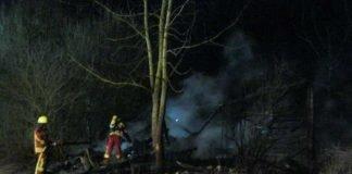 Brandstelle in Hagenbach