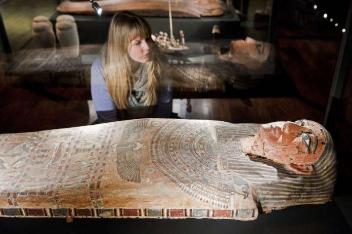 Impression aus der Ägyptenausstellung (Quelle: rem, Foto: Maria Schumann)