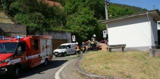 Die Feuerwehr löschte die brennende Parkbank (Foto: Presseteam der Feuerwehr VG Lambrecht)