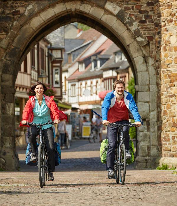 Aktiv, abwechslungsreich und nachhaltig: Der ADFC Rheinland-Pfalz empfiehlt Kurzurlaub mit Fahrrad und Bahn. (Foto: ADFC/Markus Gloger)