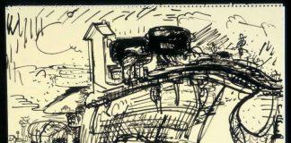 """is zur Expressivität gesteigert: Hans Hofmanns Tuschezeichnung """"Untitled"""" von 1929 ( Foto: Kim Keever, © The Renate, Hans and Maria Hofmann Trust; ARS, New York; VG Bild-Kunst, Bonn 2018)"""