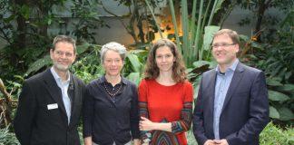 Ina Hartwig mit Miguel Casares, Sven Klimpel und Lisa Maria Schulte (Foto: Zoo Frankfurt)