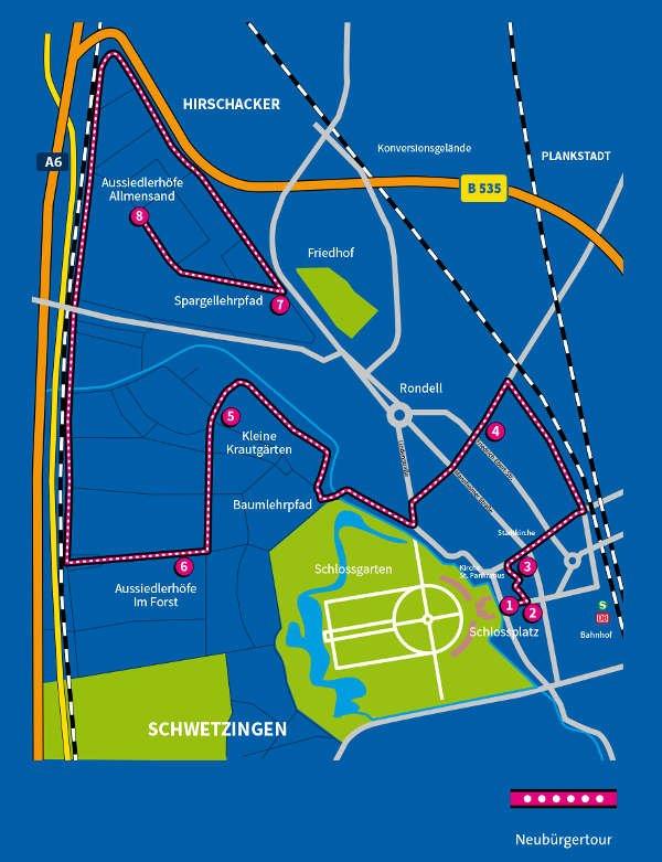 Streckenführung der Radtour (Grafik: Klaus-Peter Deimann)