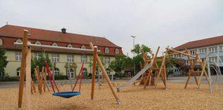 Das neue Spielgerät auf dem Schulhof (Foto: Gemeindeverwaltung Haßloch)