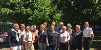 Gruppenbild mit einer der neun neuen Seniorensicherheitsbeautragten (Foto: Präventionsrat Stadt Frankfurt)