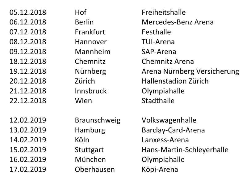 Disney in Concerts - Tournee 2018/2019