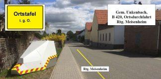 Mobiler Blitzer in Unkenbach (Foto: Polizei RLP)
