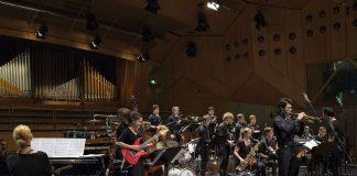 """United Big Band aus Berlin wurde gestern im hr-Sendesaal in Frankfurt mit dem """"Jazzpreis des Deutschen Musikrates und der Hansahaus-Studios Bonn"""" ausgezeichnet. (Foto: Deutscher Musikrat, Dirk Ostermeier)"""
