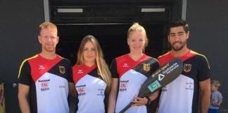 Felix Frank, Sophie Koch, Sarah Brüßler und Saeid Fazloula freuen sich auf weitere Aufgaben im Nationalteam (Foto: privat)