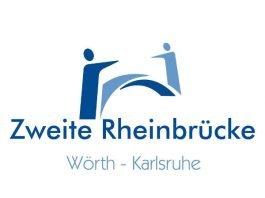 """Logo des Aktionsbündnisses """"Zweite Rheinbrücke Wörth-Karlsruhe"""