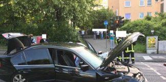 Unfallstelle in Mainz
