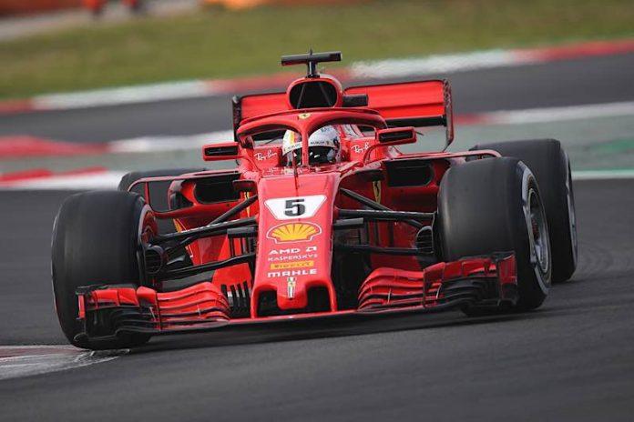 Ferrari-Pilot Sebastian Vettel (Heppenheim) (Hartmut Reuschel / Moto-Foto)