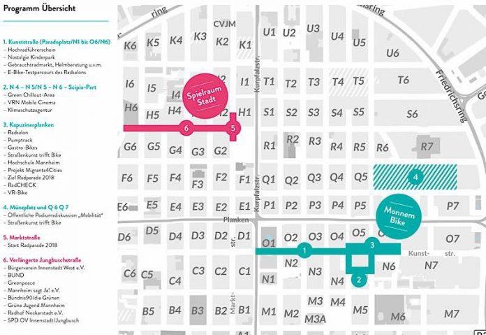Plan der Veranstaltung (Quelle: Stadt Mannheim)