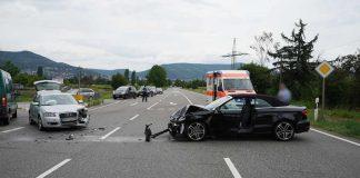 Die Unfallstelle auf der B39 in Höhe K9 (Foto: Holger Knecht)