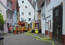 Einsatz der Feuerwehr Bruchsal