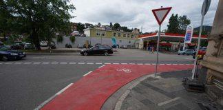 Die Moltkestraße wurde rot markiert (Foto: Holger Knecht)