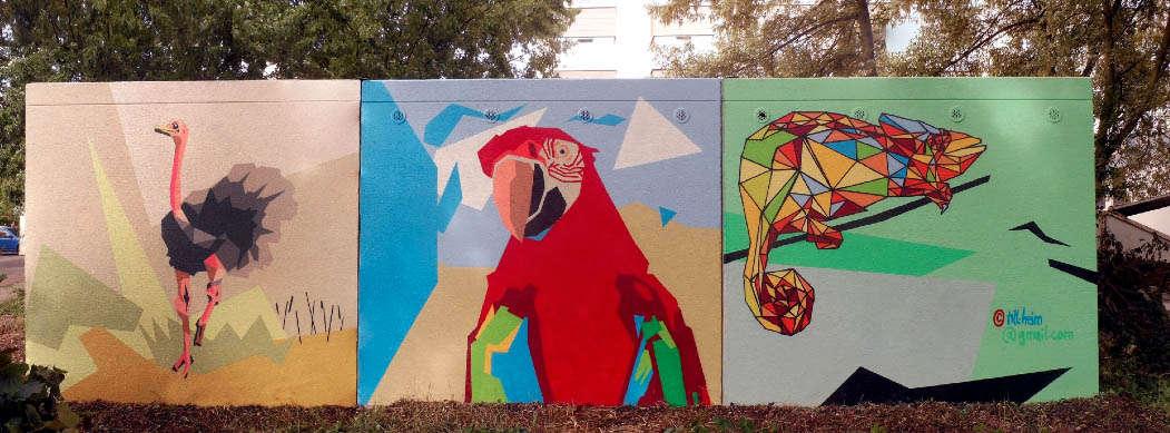Graffiti des Landauer Graffiti-Artist Till Heim