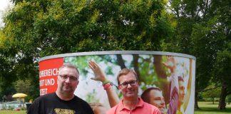 Marco Magin, Stellvertretender Sachgebietsleiter Mannheimer Schwimmbäder, und Uwe Kaliske, Fachbereichsleiter Sport und Freizeit (Foto: Stadt Mannheim)