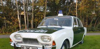 """Der Neuzugang im 1. Deutschen Polizeioldtimer Museum, ein Ford Taunus 17 m """"Badewanne"""" - Polizeifahrzeug aus dem Jahr 1963 (Foto: Dersch)"""