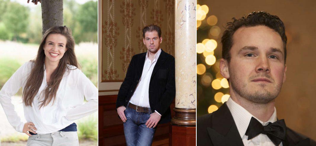 Solisten bei der großen Gala der Schlossfestspiele Zwingenberg: Jana Marie Gropp (Foto: Sebastian Plueck) sowie Patrick Stanke und Aaron Cawley (beide Fotos: Künstler)