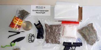 Sichergestelltes Rauschgift, Waffen und verbotene Gegenstände