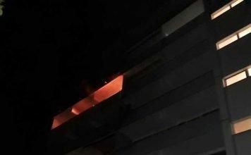 Brand auf einem Balkon