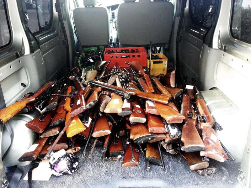 Die Waffen werden erst geschreddert und dann geschmolzen (Foto: Kreisverwaltung Mainz-Bingen)