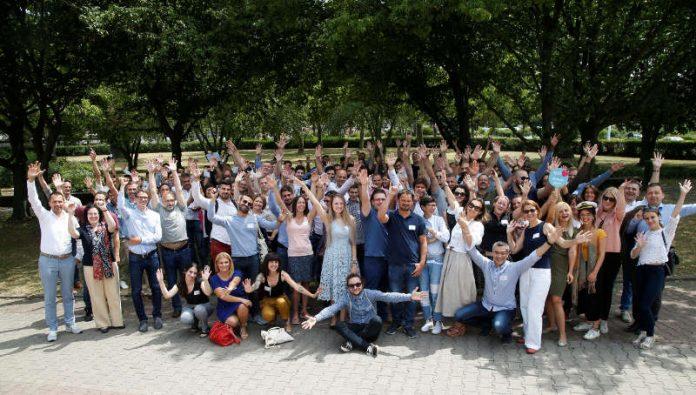 60 Start-ups aus neun europäischen Ländern haben am internationalen Bootcamp in Frankfurt teilgenommen. (© 2018 Provadis Partner für Bildung und Beratung GmbH)
