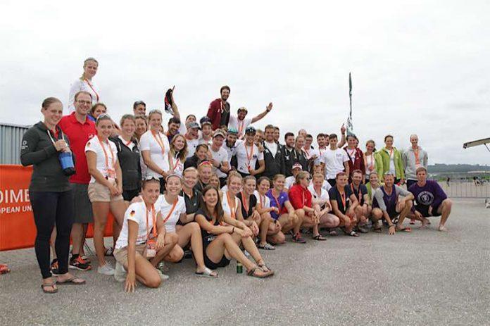 Am 5. Wettkampftag der European Universities Games in Coimbra gab es die ersten Medaillen für Studierende Deutscher Hochschulen. Gleich vier Mal Gold, sechs Mal Silber und drei Mal Bronze fuhren die Ruderinnen und Ruderer ein. (Foto: adh)