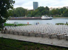 Das Festival findet auf der Parkinsel direkt am Rhein statt (Foto: Hannes Blank)