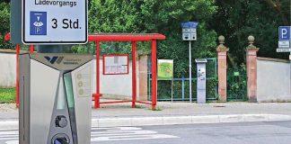 Die neue Ladestation in der Roten Turmstraße (Foto: Stadtwerke Weinheim GmbH)