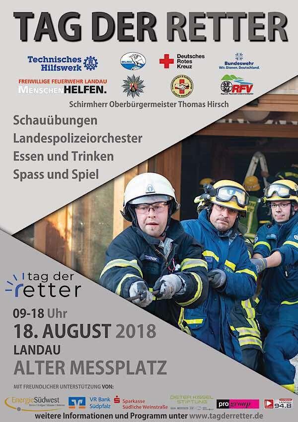 """Am Samstag, 18. August, findet auf dem Alten Messplatz in Landau der """"Tag der Retter"""" statt (Quelle: Stadt Landau in der Pfalz)"""