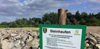Die Steinhaufen warten auf ihre neuen Bewohner. (Foto: Stadtverwaltung Neustadt)