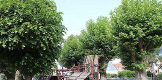 Auch ansprechende, zum Spielen einladende Schulhöfe, wie hier an der Kirchbergschule in Bensheim, gehören zu einer optimalen schulischen Ganztagsbetreuung. (Foto: Kreis Bergstraße)
