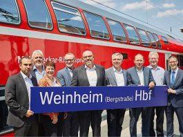Der Bahnhof in Weinheim wurde nach dem barrierefreien Ausbau offiziell eingeweiht (Foto: VRN/Höller)