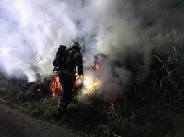 Brandeinsatz in der Nacht