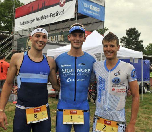 Martin Diebold, Florian Angert und Markus Rolli (v.l.) (Foto: PIX-Sportfotos /Michael Ruffler)