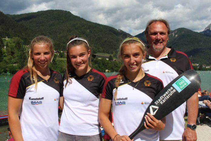 Xenia Jost (v.l.), Maya Miller, Katinka Hofmann und Detlef Hofmann sind mit dem EM-Abschneiden zufrieden. (Foto: Amrein)