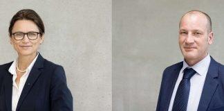 Prof. Dr. Martina Klärle wurde zur neuen Vizepräsidentin für Forschung, Weiterbildung und Transfer an der Frankfurt UAS gewählt. (Foto: Benedikt Bieber/Frankfurt UAS) Prof. Dr. René Thiele wurde zum neuen Vizepräsidenten für Studium und Lehre an der Frankfurt UAS gewählt. (Foto: Kevin Rupp/Frankfurt UAS)