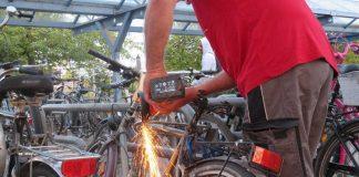 Beseitigung Schrotträder (Foto: Gemeindeverwaltung Haßloch)