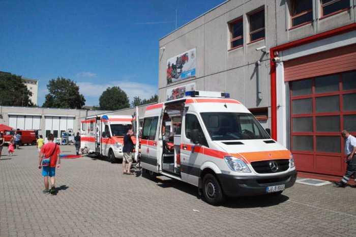 Rettungsdienste waren ebenfalls mit dabei