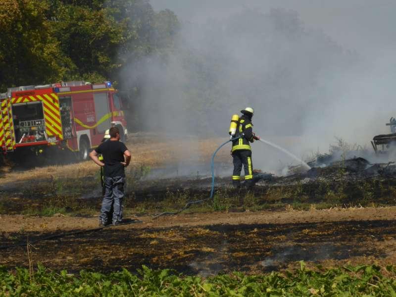 Brandbekämpfung (Foto: M. Pessara / BF Mainz)