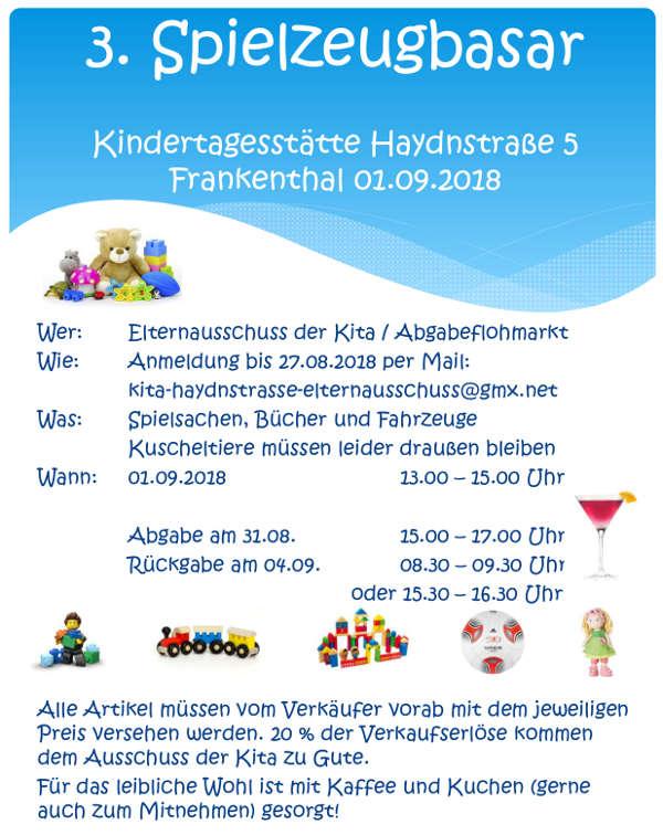 Frankenthal 3 spielzeugbasar der kindertagesst tte for Gebrauchte kuchen darmstadt dieburg
