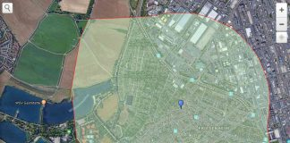 Grafik mit dem von der Evakuierung betroffenen Gebiet (Quelle: Stadt Ludwigshafen)