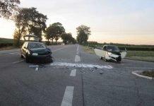 Unfallbeschädigte PKW, B9, Abfahrt Gimbsheim, L437