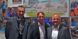 Der neue Aufsichtsrat der VC Wiesbaden Spielbetriebs GmbH (v.l.): Ulrich Schwaab, Holger Elze und Peter Bartholomäus (Foto: VCW)