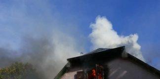 Ein leerstehendes Gebäude brannte (Foto: Feuerwehr Darmstadt)