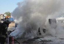 Brand in einem Rcylingunternehmen